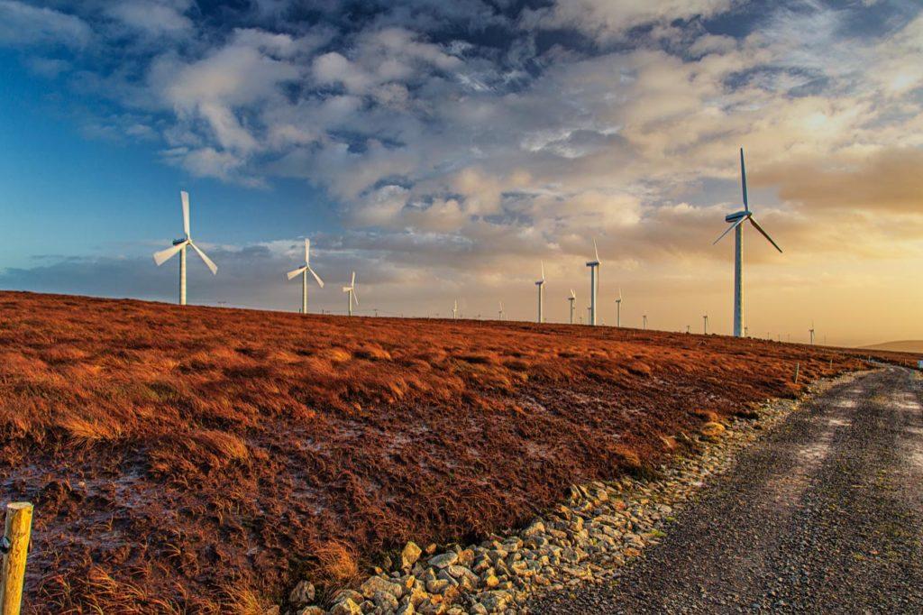 Wind turbines at Arigna Wind Farm