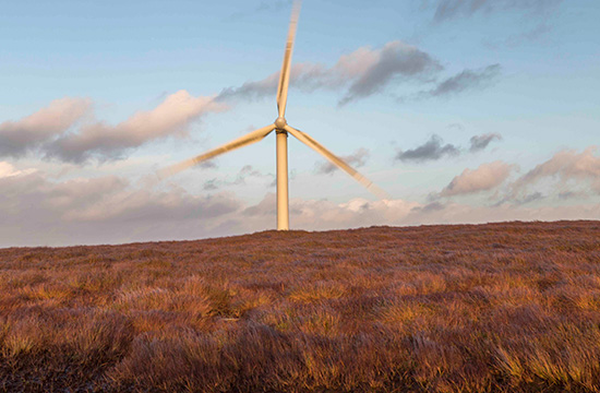 Turbine at Arigna wind farm